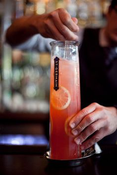 Champagne Whiskey Punch: Old Overholt Rye Whiskey, Sparkling Wine, Lemon, Sugar, House-made Raspberry Syrup