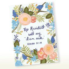No Resident Will Say I am Sick Isaiah 33:24 Scriptural