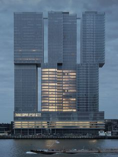 NL, Rotterdam, De Rotterdam (hybrid building with offices, apartments, hotel).  Architect OMA, 2013.