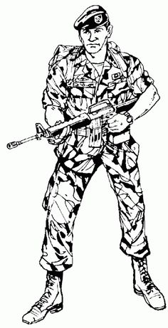 coloring pages of army soldiers