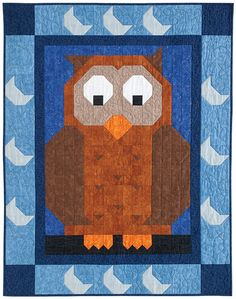 This is Hoo Patch. He's the latest addition to the QM Patch Pals Collection. You'll find Hoo in the Sept/Oct issue of Quiltmaker.