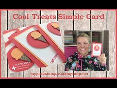 Stampin' Up! Cool Treats Simple Card - Occasions Catalog! - YouTube