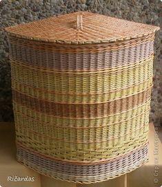 Поделка изделие Плетение Пробую новые формы  Бумага газетная Трубочки бумажные фото 2