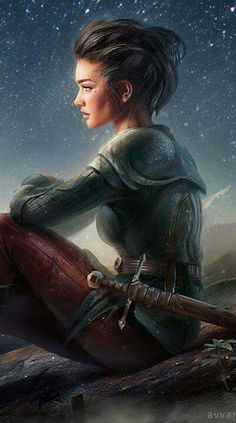 On the starry skies' shore by avvart on deviantart (detail) fantasy artwork, Dnd Characters, Fantasy Characters, Female Characters, Fantasy Women, Fantasy Girl, Anime Fantasy, Fantasy Inspiration, Character Inspiration, Character Portraits