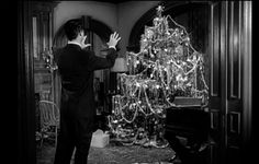 Cary Grant in The Bishops Wife 1947 with an amazing Christmas Tree