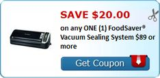 Tri Cities On A Dime: SAVE $20.00 ON FOODSAVER VACUUM SEALING SYSTEM - $...