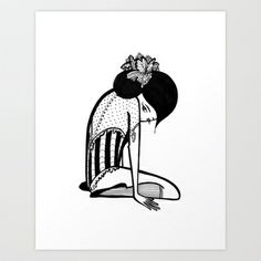 Shy Ballerina  Art Print by Sherri's INK - $15.00 - my personal favorite