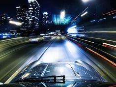 Porsche Sandwich / 993 Carrera 4 on the 110 Freeway  by Saam Gabbay