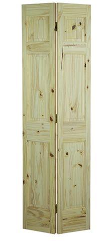 6 Panel Knotty Pine Bifold Door
