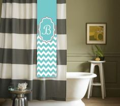 Custom Monogram Chevron Shower Tag For A Shower Curtain Bridal Shower Gift  | EBay