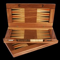Wooden Backgammon Board with Pieces