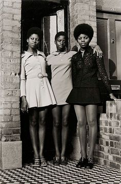 The Bailey Sisters in Clapham, London, England, United Kingdom, 1970, photograph by Neil Kenlock.