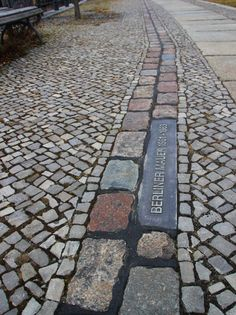 Traces of the Berlin wall, Germany Gedächtniskirche Berlin, Berlin City, Berlin Wall, Berlin Germany, Modern Driveway, Europe Holidays, City Break, Pavement, Signage