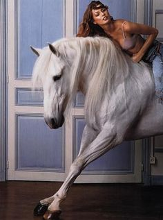 www.pegasebuzz.com | The Horse Fashion : Wendelien Daan for Vogue France, june-july 2000