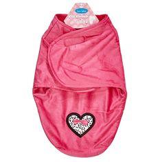 Pink Heart Swaddle Blanket Bag (0-3m)