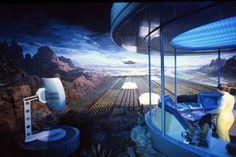 In the near future, technology turns barren desert into farmland at Horizons #disney #imagineering