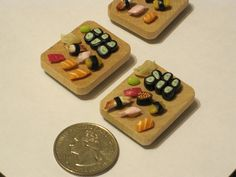 miniature polymer clay sushi, via Flickr.
