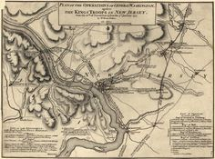 Original Map of the Battle of Trenton. Monroe received a wound to his shoulder here and carried the bullet for the rest of his life.