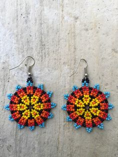 A personal favorite from my Etsy shop https://www.etsy.com/listing/271608113/huichol-beaded-earrings-175-diameter