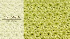 Easy video instructions on how to crochet the star stitch! ༺✿ƬⱤღ✿༻