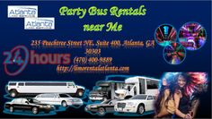 Party Bus Rentals near Me is a luxurious bus that is furnished with accommodations. It functions just like a Party bus. Limo rental Atlanta offer a large range of party buses. We offer to and fro transportation for several special occasions including prom, sporting events and birthday parties. Get a free quote and the best rates at http://limorentalatlanta.com/party-bus-rentals-near-me.html or calling us at: 470-400-9889.