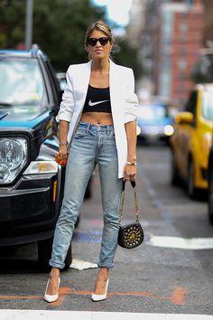 Best Street Style at New York Fashion Week Spring 2015 | POPSUGAR Fashion