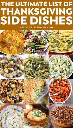 Nutritious Snack Tips For Equally Young Ones And Adults The Ultimate List Of Thanksgiving Side Dishes - Over 100 Recipes To Make For Your Thanksgiving Dinner Who Says The Turkey Gets To Be The Star? Thanksgiving Dinner List, Thanksgiving Dinner Recipes, Thanksgiving Menu Planner, Easy Thanksgiving Side Dishes, Christmas Dinner Menu, Thanksgiving Cakes, Vegetarian Thanksgiving, Thanksgiving Activities, Thanksgiving Decorations