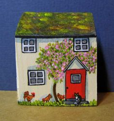 Buttermilk Cottage by jamjarart on Etsy