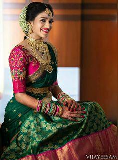South indian blouse designs for a royal bridal look shaadisaga Lehenga Designs, Wedding Saree Blouse Designs, Half Saree Designs, Pattu Saree Blouse Designs, Blouse Designs Silk, Saree Wedding, Wedding Bride, Wedding Ideas, Trendy Wedding