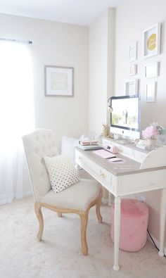 Updated Desk Tour Shabby Chic