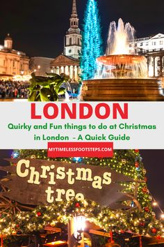 Alongside the age-old Christmas traditions of dazzling lights and markets there are some quirky experiences at Christmas in London to explore | Christmas in London | London at Christmas | Christmas 2020 | Quirky things to do at Christmas | Fun things to do at Christmas via @GGeorgina_mytimelessfootsteps/