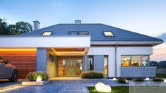 Modern Pool House, Modern Family House, Modern House Facades, Modern Bungalow House, Modern House Design, House Plans Mansion, Dream House Plans, Architect Design House, House Outside Design