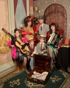 Jazz Family, Antique Images, Old Time Photos, Boardwalk Mall, WIldwood, N.J.