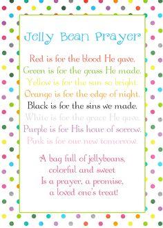 A Pocket full of LDS prints: Jelly Bean Prayer poem - Easter freebie