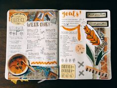 "studypetals: ""5.19.16+12:55pm // 55/100 days of productivity // here's this week's spread! spiced it up with bold-colored magazine cutouts and tried out some new lettering and doodles. good luck to..."