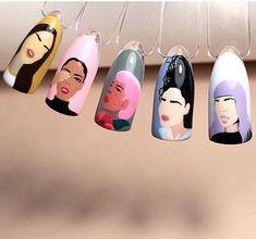 Best Acrylic Nails, Gel Nail Art, Nail Art Diy, Diy Nails, Swag Nails, Latest Nail Designs, Nail Art Designs Images, Swirl Nail Art, Uñas Diy