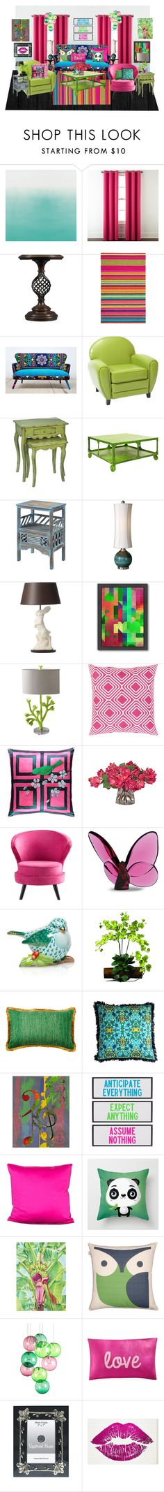 """""""Whimsy"""" by wendy-collins-1 ❤ liked on Polyvore featuring interior, interiors, interior design, home, home decor, interior decorating, Designers Guild, Home Expressions, Stanley Furniture and Brink & Campman"""