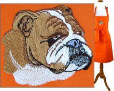 Bulldog Apron English British Bull Dog Show Breed Puppy Custom Monogram 4 Sizes…