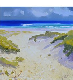 Through the Dunes oil landscape painting by PJ Cook