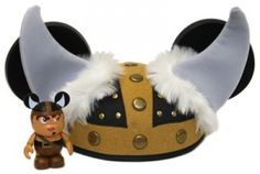 Disney Vinylmation - Urban 6 Series - Mickey Ear Hat Viking Hat featuring horns with a Viking Vinylmation figure - By Doug Strayer - Limited Edition of 800 The figure and hat will be in mint conditi. Disney Mickey Ears, Viking Helmet, Ear Hats, 4th Birthday, Vikings, Disneyland, Bows, Creative, Epcot