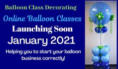 Balloon Classes online at Balloon Class Decorating. Learn how to start a small balloon decorating business with online balloon decorating classes. Learn how to decorate with balloons with Balloon Class Decorating.