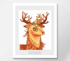 Watercolor Animal Nursery Print Christmas Nursery Print Deer Christmas Print Wall Watercolor Nursery Christmas Gift Nursery Print  My prints are a high quality image on a thick, beautiful, textured paper (the base weight of the paper is 250 - 300g). The drawings are bright.  All prints in the shop printed by the originals of my works.  I care about your orders therefore all prints are packed in the thick corrugated cardboard and sealed in a postal plastic bag to the transporting. Such…