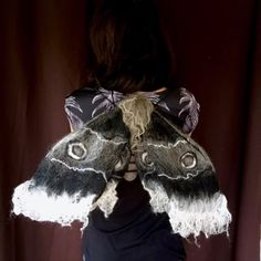 Hand felted wearable art. Emperor moth home decor wall art which also doubles up as costume wings. Emperor Moth, Costume Wings, Moth Wings, Dark Gothic, Home Decor Wall Art, Wearable Art, Trending Outfits, Unique Jewelry, Handmade Gifts