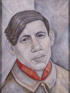 Portrait of Soutine, 1955 by Marevna (Marie Vorobieff). Cubism. portrait