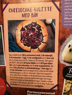 Cheesekake - galette med bær