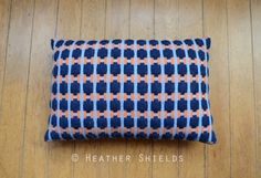 'Puzzle' Cushion - Heather Shields Textile Design.   Handwoven in Merino & Lambswool