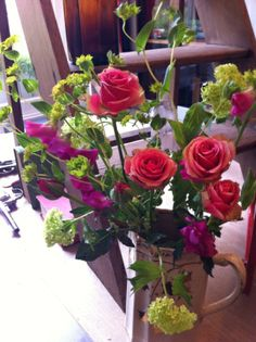 Gorgeous vase on sale in Phoenix on Golborne, my favourite shop(http://www.phoenixongolborne.co.uk/) and flowers from Scarlett & Violet (http://www.scarletandviolet.com/)