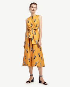 Pineapple Belted Pocket Dress