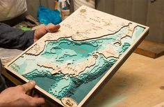 East Sea Laser Cutter Projects, Cnc Projects, Plaque Design, Puzzle Crafts, Wooden Map, Lake Art, Nautical Design, Laser Cut Wood, Resin Furniture