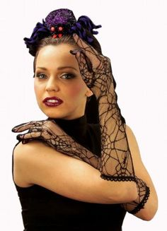 awesome       £5.69  Spiderweb Black Halloween Theme Gloves for Fancy Dress Costumes  AccessoryFancy Dress AccessoryBrand New  B0015C7AZA ...  Check more at http://fisheyepix.co.uk/shop/spiderweb-black-halloween-theme-gloves-for-fancy-dress-costumes-accessory/